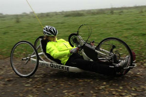 Claire Lomas charity bike ride - claireschallenge